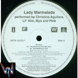 "Christina Aguilera, Lil' Kim, Mya and Pink ‎– Lady Marmalade (Thunderpuss Mixes) - Vinil, 12"", Promo"