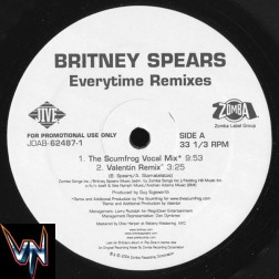 "Britney Spears ‎– Everytime (Remixes) -  Vinil, 12"", Promo"