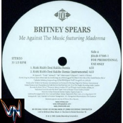 "Britney Spears Featuring Madonna ‎– Me Against The Music - Vinil, 12"", Promo"