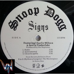 """Snoop Dogg Featuring Charlie Wilson & Justin Timberlake – Signs - Vinil, 12"""", Promo"""